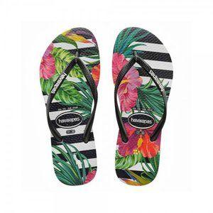 Havaianas Slim Tropical Floral Flip Flop size 10c